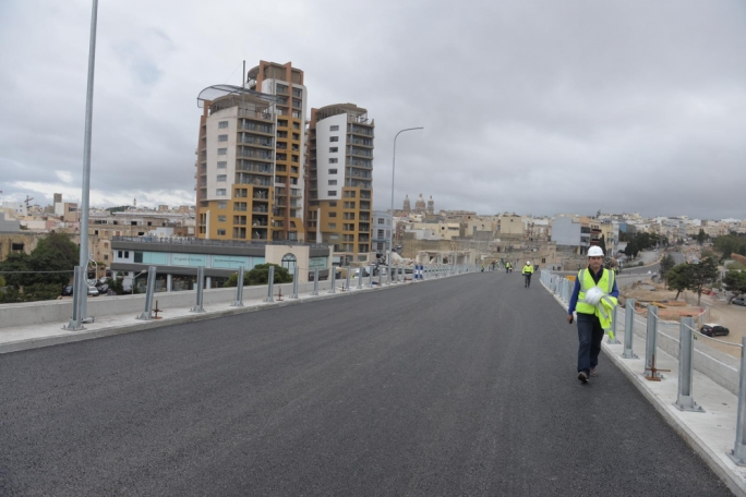 Longest flyover in the Marsa Junction Project to be completed by end of the week