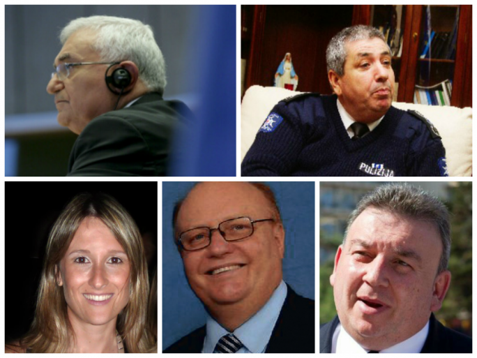 Clockwise from left: John Dalli, John Rizzo, Silvio Zammit, Peter Grech (Attorney General) and Gayle Kimberley.