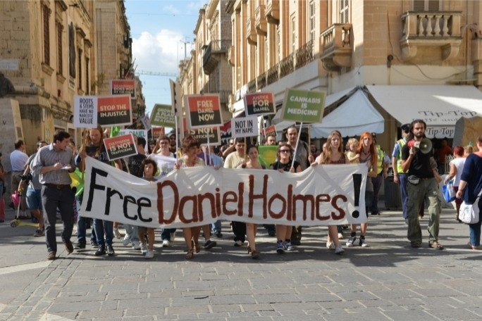 A solidarity march held for Daniel Holmes