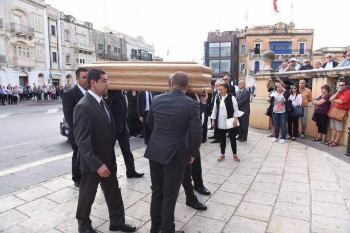 Like Delia, Muscat was unwelcome at Daphne Caruana Galizia's funeral