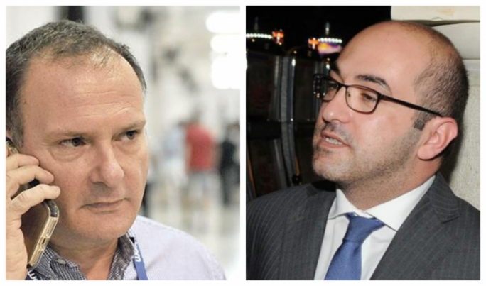 David Thake (left) alleged that Yorgen Fenech (right) offered €50,000 to the PN to make sure MEP David Casa does not get re-elected