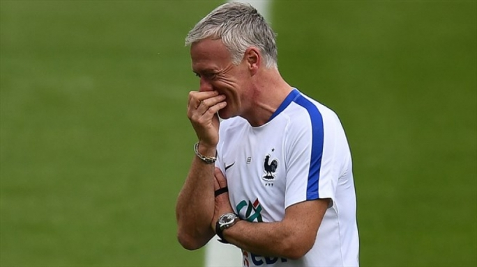 Didier Deschamps of France during a training session ahead of their UEFA EURO 2016 semi final match against Germany