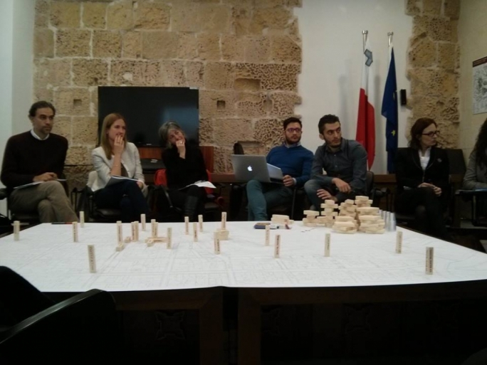 Valletta Design Cluster Project Manager Caldon Mercieca with workshop speakers Antoine Zammit and Pawlu Mizzi (centre)