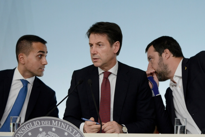 Unfaithful partner: Matteo Salvini (right) has accused Luigi di Maio's (left) MS5 of holding up reforms he wants to push forward, and is now planning to force Italy into another election so that he can take control of the government