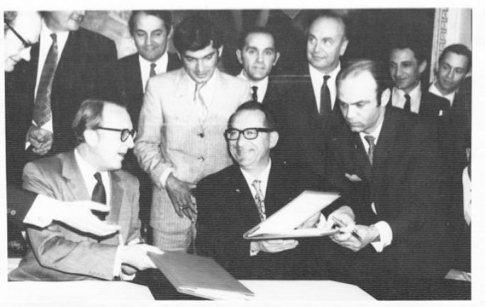 Getting business done with the Brits... Dom Mintoff