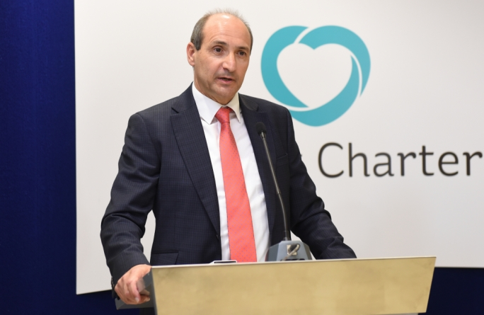 Health minister Chris Fearne this afternoon launched the new patient charter which will inform patients of their rights and responsibilities when receiving healthcare•photo by James Bianchi/Mediatoday