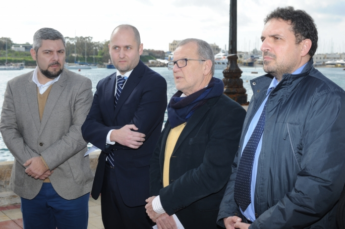Pierre Portelli (left) was re-elected as a councillor in Sliema in the latest round of local council elections