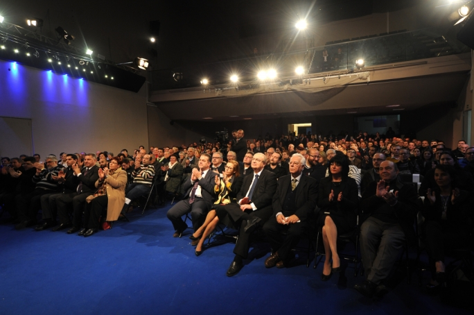 Members of the PN's executive and sectional committees gathered in force at Dar Centrali. Photo: James Bianchi/MediaToday