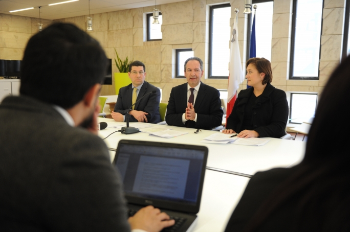 PN MPs Clyde Puli and Mario de Marco and MEP Therese Comodini Cachia address a press conference. (Photo: James Bianchi/MediaToday)