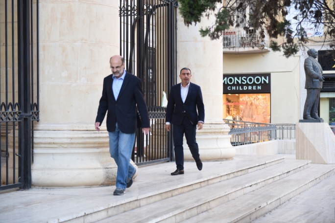 Edward Gatt (right) - Defence Counsel to Keith Schembri. Photo: James Bianchi/MediaToday
