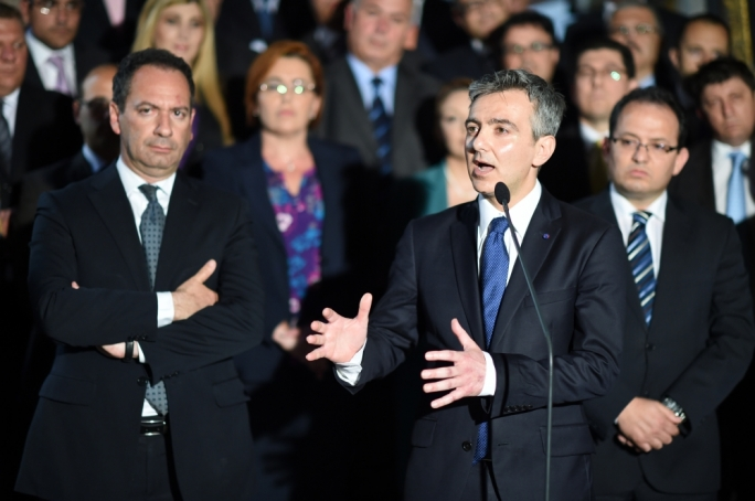 Opposition leader Simon Busuttil announces the Opposition's vote of abstention over civil unions bill (Photo: Ray Attard)