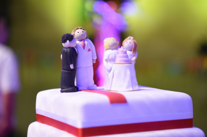 Wedding cake at St George's (Photo: Ray Attard)