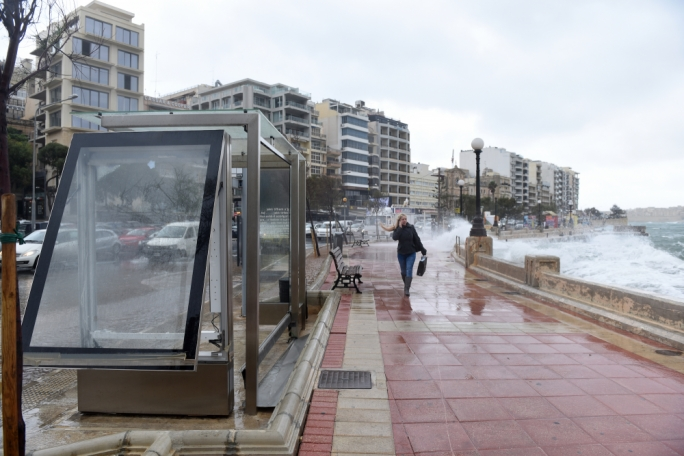 Malta hit by strong sirocco wind (Photo: James Bianchi/MediaToday)