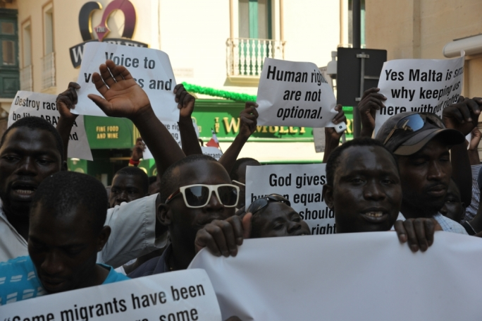 [WATCH] 'Protect the lives you've saved' - migrants in racism protest