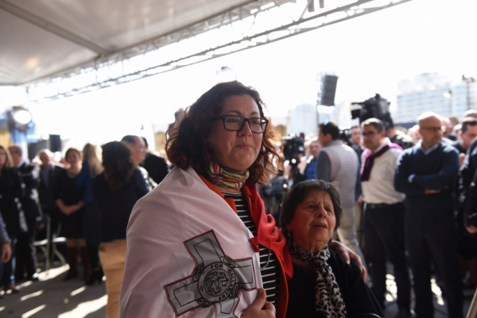 Democratic Party leader Marlene Farrugia at the PN rally. Photo: James Bianchi/MediaToday