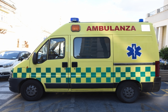 Elderly man sustains grievous injuries after falling off ladder