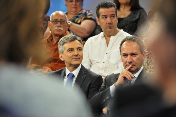 PN deputy leader Mario de Marco [right] has denied breaching the ministerial code of ethics