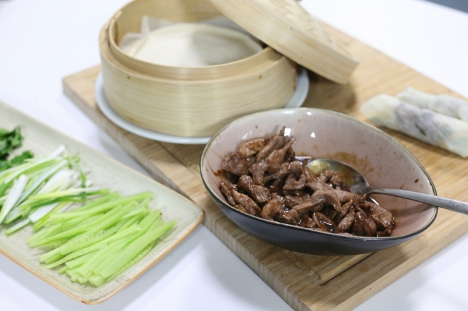 Easy duck and hoisin pancakes