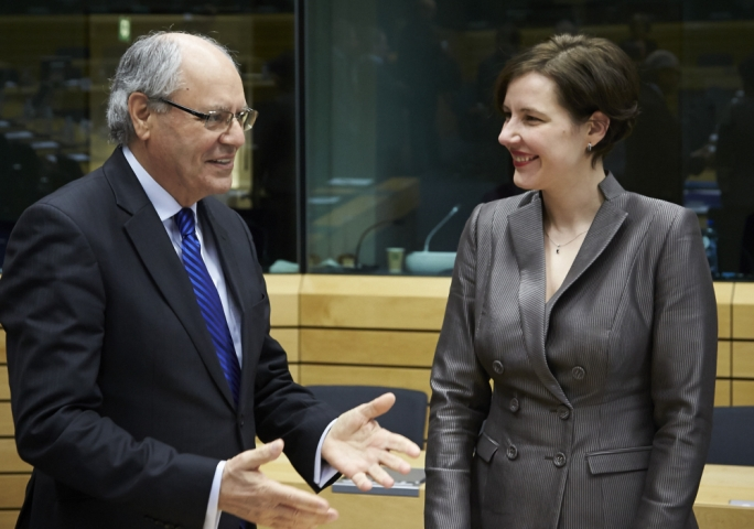 Edward Scicluna with Latvian counterpart Dana Reizniece-Ozola
