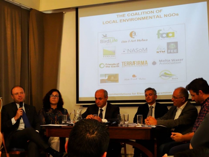 Malta's political leaders at a debate organised by environmental NGOs
