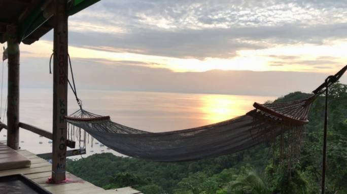 The best way to enjoy nature on Koh Toa is to lie back in a hammock and take in the scenery