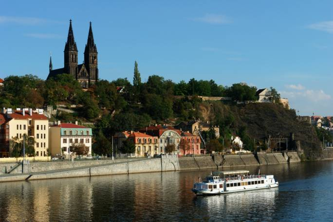 "Vysehrad or ""Castle on the heights"" is a beautiful place to visit at any time or day or any time of year"