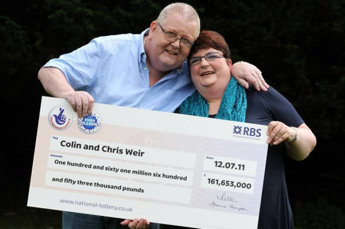 The EuroMillions record breakers, Colin and Christine Weir, won well over £161m six years ago