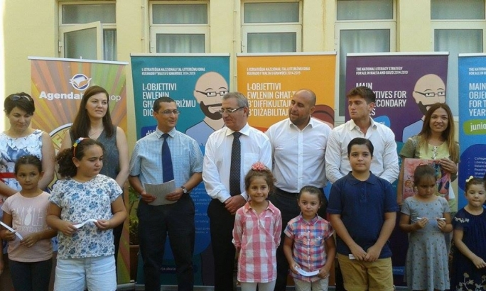 Education minister Evarist Bartolo launching this year's summer reading campaign