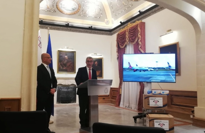 Coronavirus: Foreign Minister laments lack of EU solidarity, Malta receives surgical masks from China