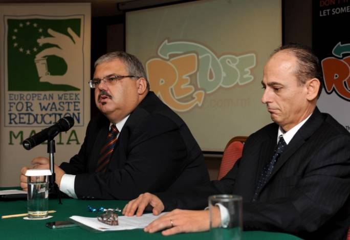 Former resources minister George Pullicino (left) was responsible for the national waste agency