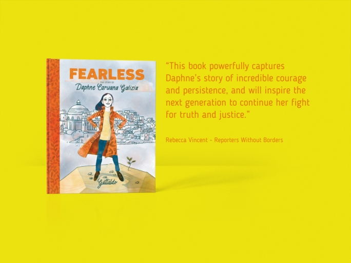 Gattaldo has just finished writing and illustrating a children's picture book 'Fearless, The Story of Daphne Caruana Galizia' which will be available in bookshops from October