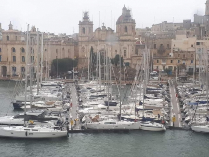 The Birgu pontoon was dislodged so that yachts were sandwiched against yachts moored onto another pontoon