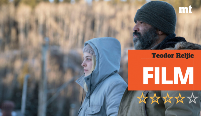 Tracking the ice: Riley Keough and Jeffrey Wright make for unlikely wolf-tracking partners in Jeremy Saulnier's latest horror-thriller