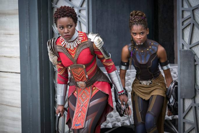 Representational win:  Lupita Nyong'o and Letitia Wright