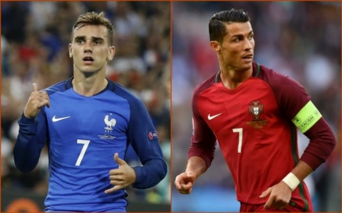 Antoine Griezmann and Cristiano Ronaldo will lead the line for France and Portugal in Paris