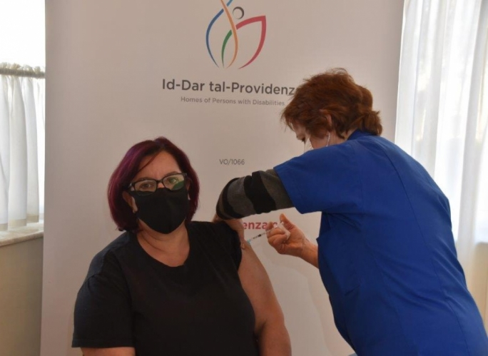 Almost 33,000 people are fully vaccinated with the second dose against the COVID-19 virus as the inoculation programme gathers pace (File Photo: Dar Tal-Providenza)