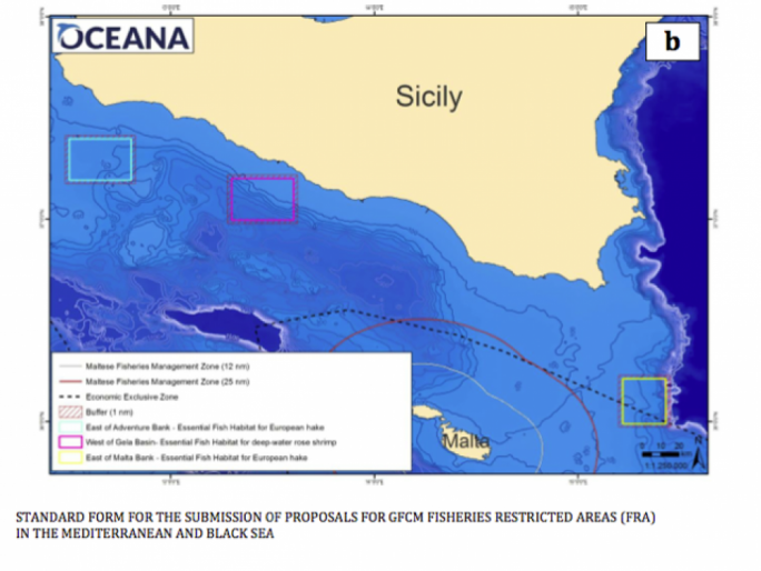"Global NGO Oceana has denounced more than 10,000 hours of fishing activity by 20 Italian flagged bottom trawling fishing vessels in the three ""Fisheries Restricted Areas"" in the Strait of Sicily"