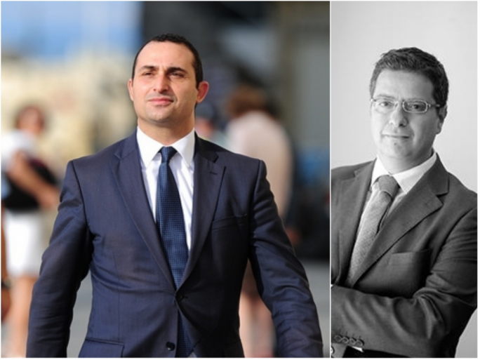 Me, not relevant? Franco Debono, left, hits out at PN leadership candidate Adrian Delia