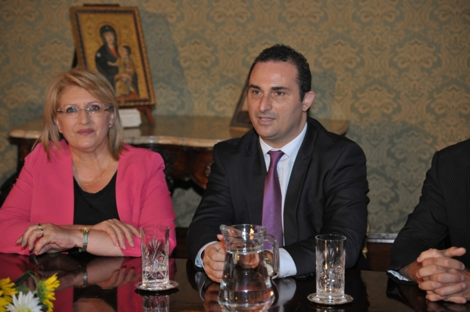 Franco Debono (right) with Marie Louise Coleiro Preca on the Constitutional Convention that has been passed on to the outgoing President to lead after April
