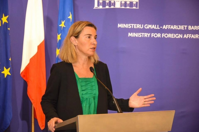 The EU foreign policy chief, Federica Mogherini, outlined her opposition to the suggestions as she set out plans to boost EU training for the Libyan coastguard (File photo)