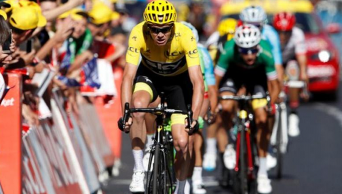 Chris Froome Froome finished 28th in an eventful 15th stage on Sunday