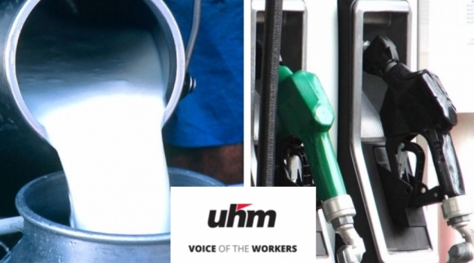 Fuel and milk price rises have unions worried