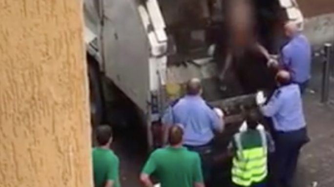 Footage of the naked woman being taken out of the back of the refuse collection vehicle was first published by One News and was later picked up by a number of other local news outlets
