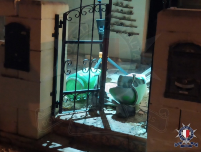 The gas cylinder exploded earlier in January outside an Attard residence