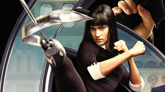 Sofia Boutella as the murderous 'Gazelle' in Kingsman: The Secret Service