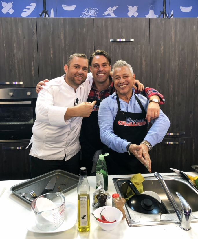 Gordon and Lars with Chef Robert Cassar