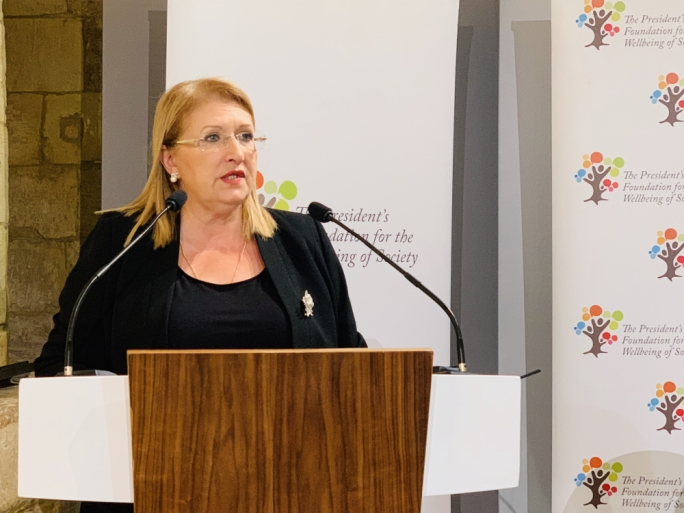 President Marie-Louise Coleiro Preca called for more strategies to effectively care for children crossing the Mediterranean in search of a better life