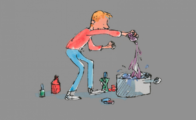 George's Marvellous Medicine: the Quentin Blake illustrations became a hallmark of Roald Dahl's characters