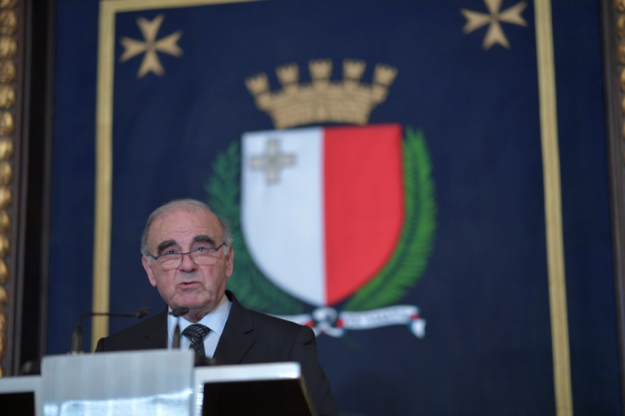 President George Vella during his inauguration speech