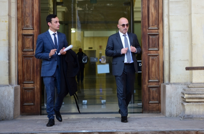 Yorgen Fenech (right) stands charged with complicity in the assassination of Daphne Caruana Galizia (File Photo)